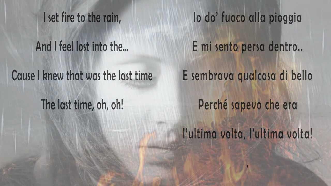 Adele set fire to the rain testo originale e traduzione - Dive testo e traduzione ...