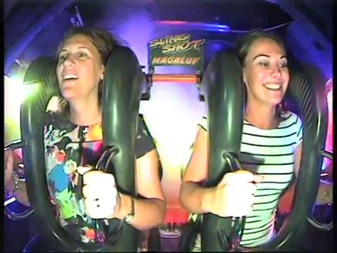 Vicky and Sally do Magaluf - Bungee Rocket