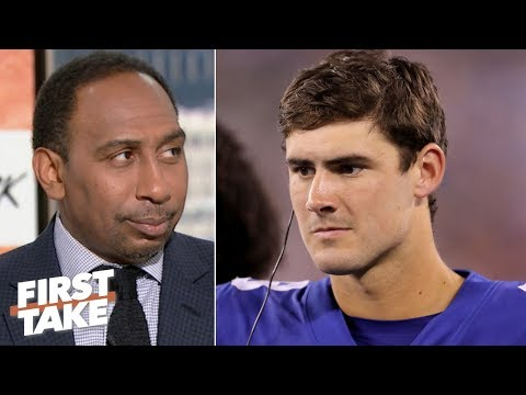 Stephen A. applauds the Giants for replacing Eli Manning with Daniel Jones | First Take