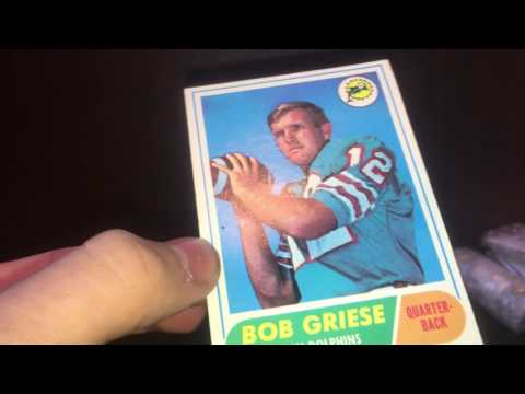 Part One Auction Wins! Bob Griese Rookie Card!