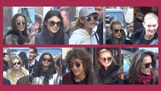 The Victoria's Secret Angels are leaving Paris / 1 december 2016 after Fashion Show