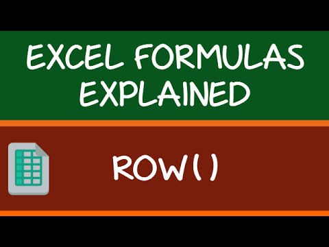 How to use ROW Formula in Excel