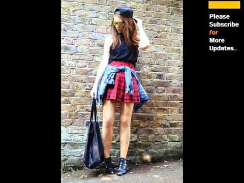 Red Plaid Skirt | Popular Red Pleated Plaid Skirt Designs Romance