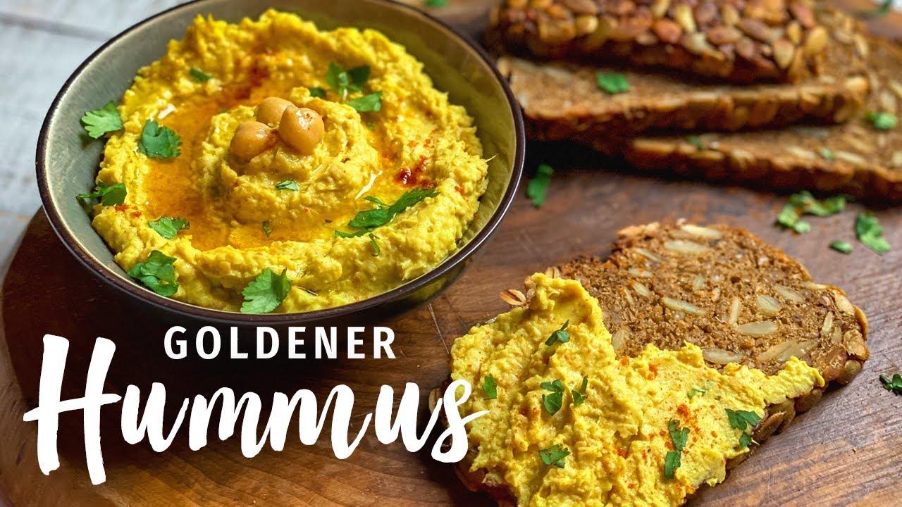 Hummus selber machen: Goldener Hummus - Gesund, schnell und einfach!