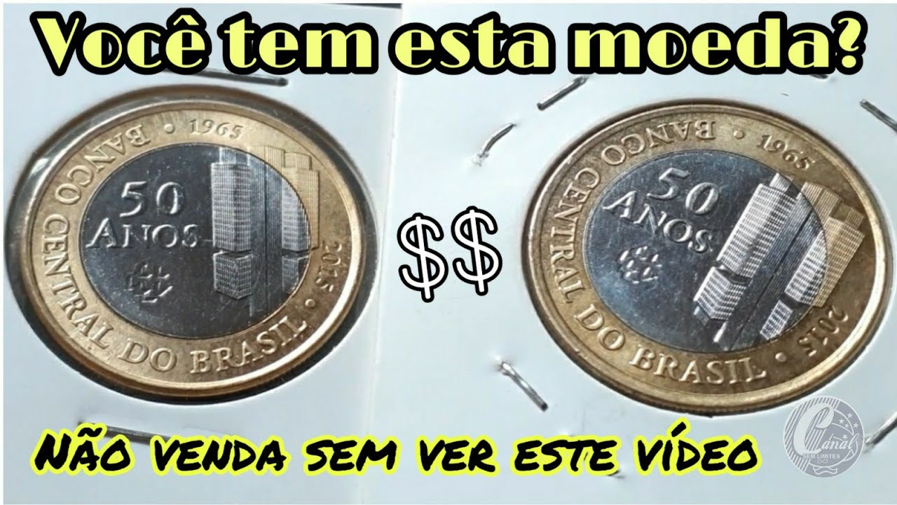 Se você tem esta moeda, não venda sem ver este vídeo. Moeda rara com defeitos #bc50anos