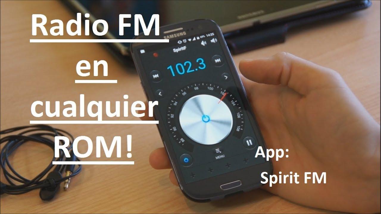 RADIO FM en cualquier ROM Android con Spirit FM! - YouTube