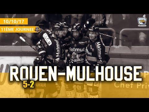 Hockey : Rouen - Mulhouse Ligue Magnus 2017/2018 Jour 11