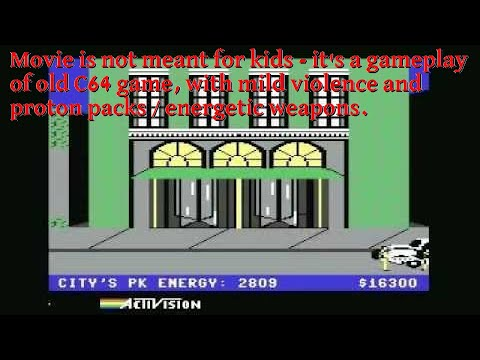 Ghostbusters: Commodore64,1984 (without the final ending because of the mean Marshmallow Man)