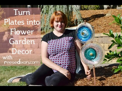 Superieur Turn Glass Plate Into Flowers! Outdoor Decor Tutorial!