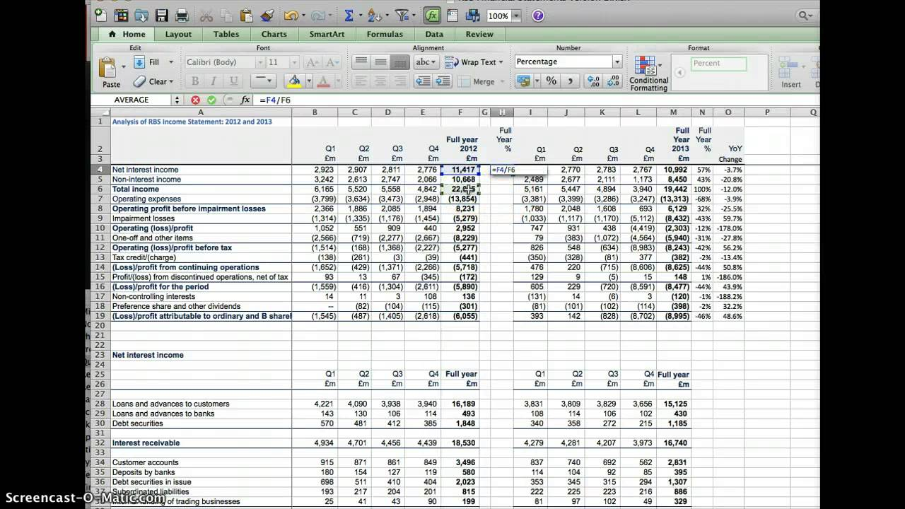 horizontal balance sheet format in excel