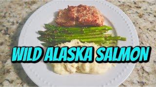 EASY DINNER : SALMON, ASPARAGUS, MASHED POTATO
