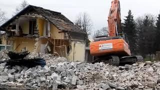 Wyburzanie budynku pod sklep ALDI