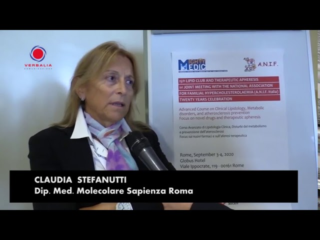 INTERVISTA A CLAUDIA STEFANUTTI. 15th LIPID CLUB - IL CONGRESSO.  20° ANNIVERSARIO ANIF