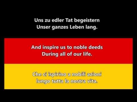 Inno Nazionale di Germania - Deutsche Nationalhymne (DE/EN/IT Testo)