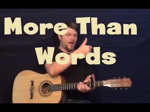 Guitar guitar tabs more than words : More Than Words (Extreme) Easy Guitar Lesson Strum Chords ...