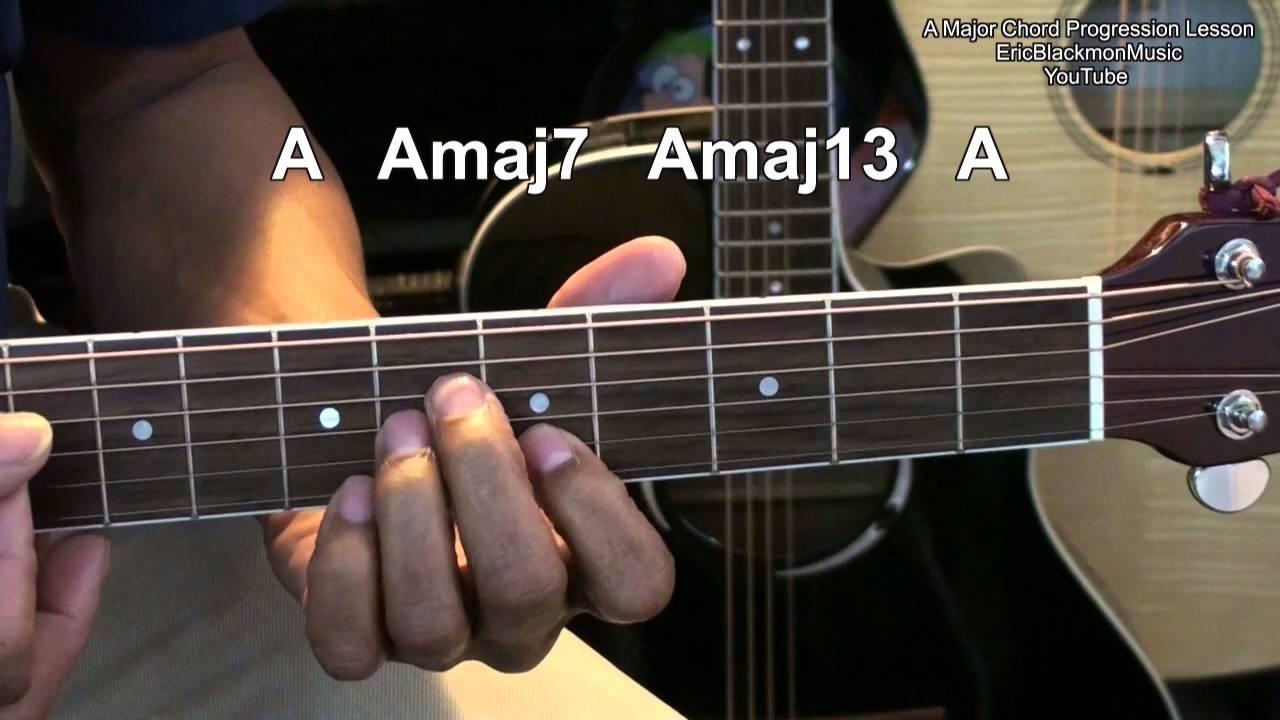 Amazing Easy A Major Acoustic Gutiar Chord Progression Tutorial