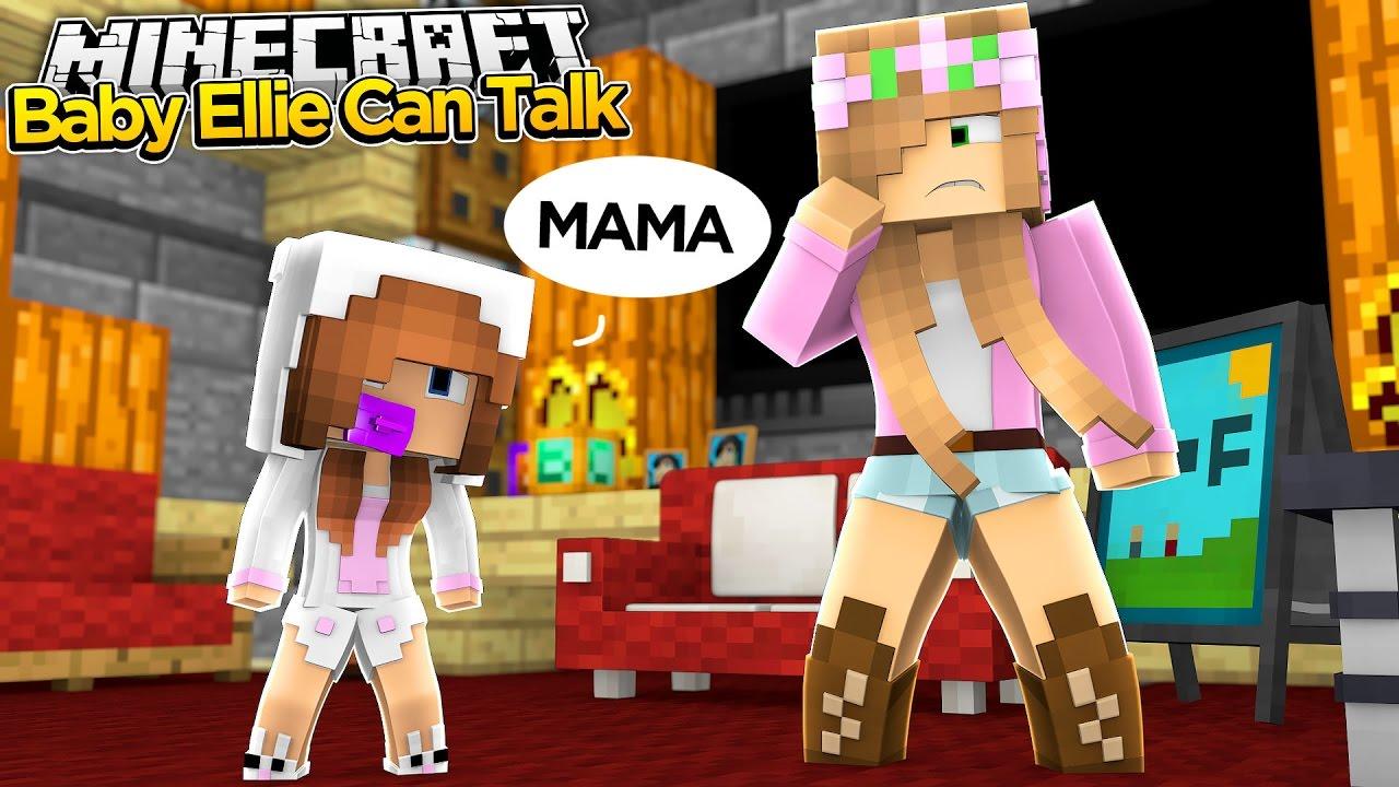 Minecraft – Little Kelly Adventures : BABY ELLIE CAN TALK!