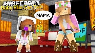 Minecraft - Little Kelly Adventures : BABY ELLIE CAN TALK!