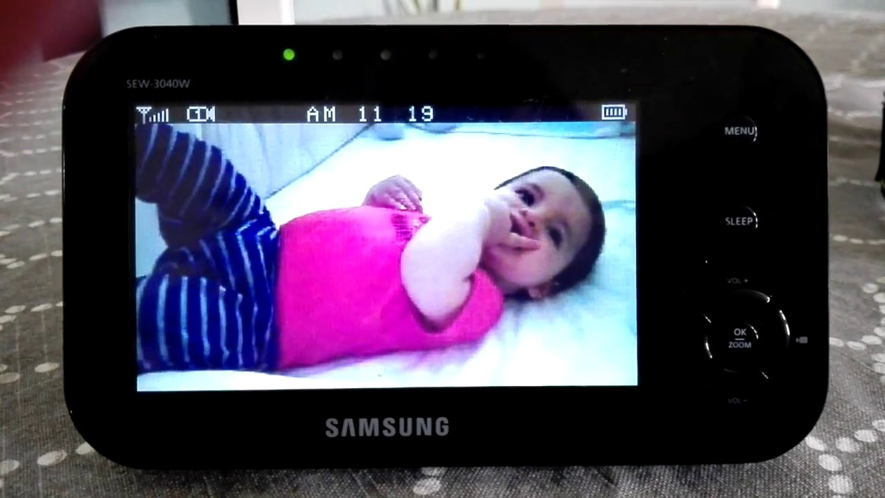 Best Baby Monitor for Travel: Samsung SEW 3040 image and sound quality