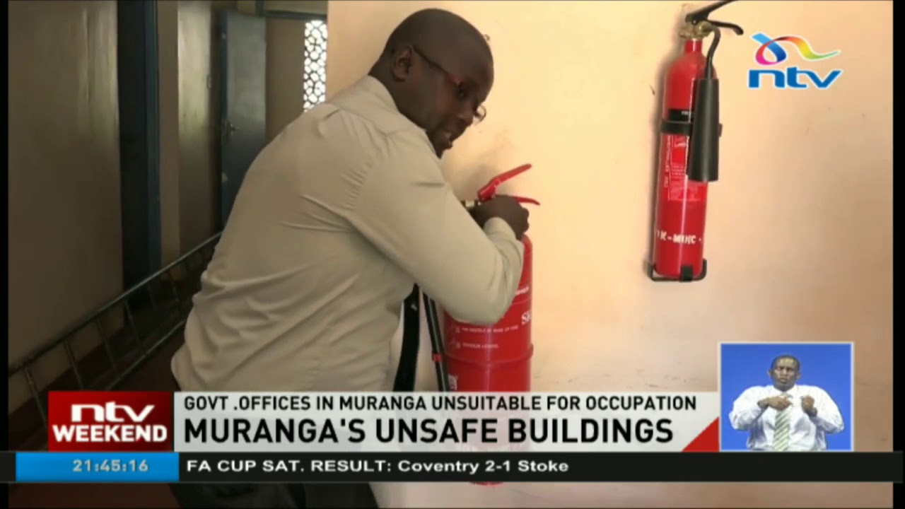 Government offices in Murang'a unsuitable for occupation