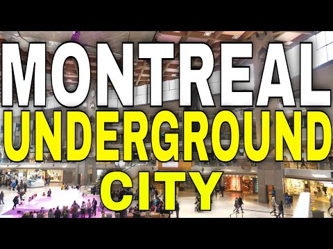 4K Montreal - Walking The Underground City  - 【4K】