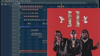 Migos - Walk it Talk It ft. Drake Step by Step Fl Studio (Remake)