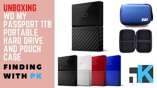 Unboxing WD My Passport 1TB Portable Hard Drive | Technotech WD Pouch Case