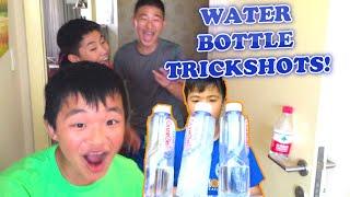 WATER BOTTLE FLIP TRICKSHOTS! (Dude Perfect PARODY)