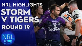 NRL Highlights: Storm v Wests Tigers - Round 19 | NRL on Nine