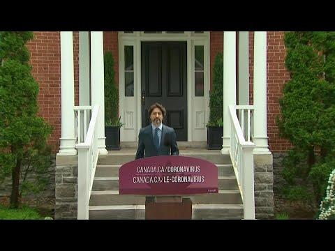 Los 21 segundos en silencio de Trudeau tras ser preguntado por Trump