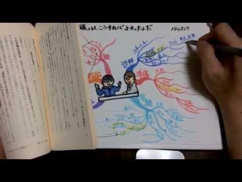 本一冊をマインドマップでまとめる様子 / Mindmaping while reading a book