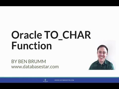 Oracle TO_CHAR Function