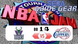 [SEGA Game Gear] NBA JAM Tournament Edition (1994) #14 Bucks VS Clippers