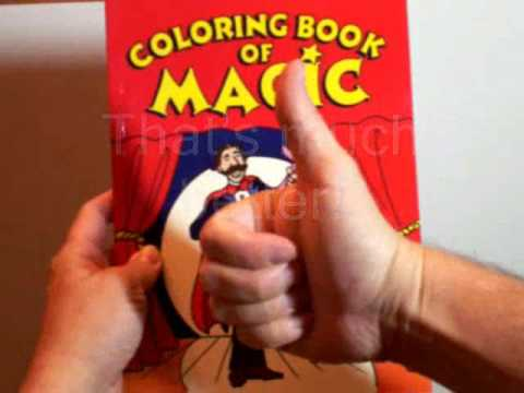 magic tricks magic coloring book youtube - Coloring Book Magic Trick