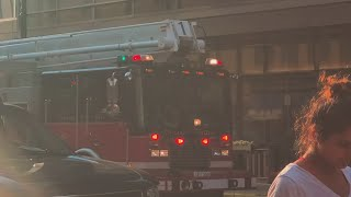 Chicago Fire Department Squad 1 Returning And Truck 3 Responding