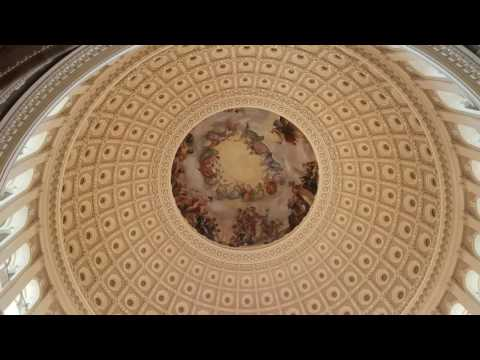 Inside the dome at the US Capitol building!