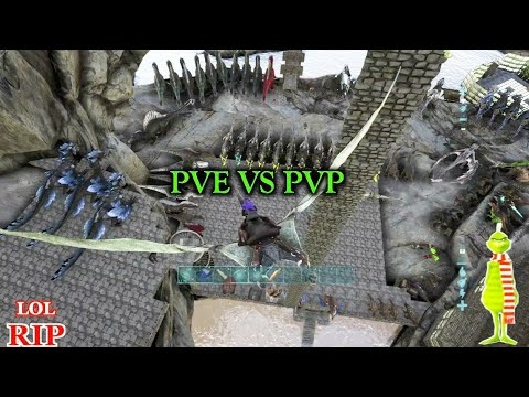Ark: BECOMING The GRINCH By PVPing Against PVE MEGA TRIBES!?? (RAIDING)