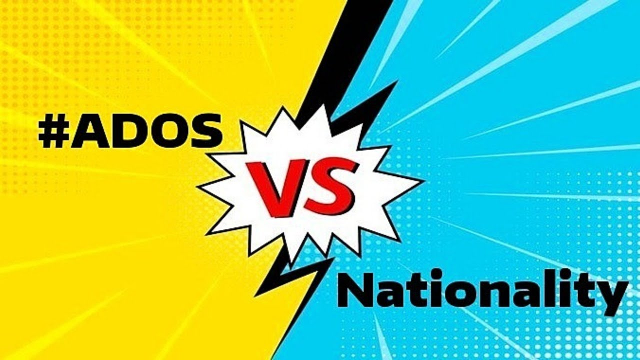#ADOS vs. Nationality