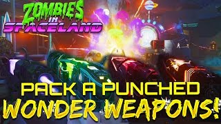All Wonder Weapon Pistols Pack-A-Punched! (Zombies In Spaceland) - Infinite Warfare Zombies