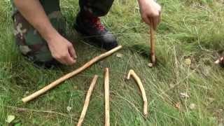 Уроки выживания ловушка 2(Новое! Строительство укрытия из снега http://youtu.be/i1yu6kfS72k Показан принцип действия ловушки. При усилении фиксир..., 2012-07-19T12:46:12.000Z)