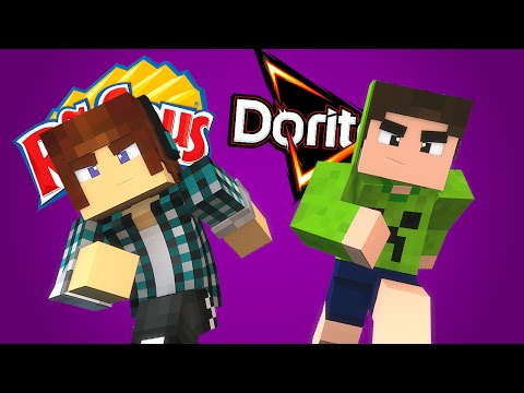 Minecraft: RUFFLES vs DORITOS - Batalhas SkyWars