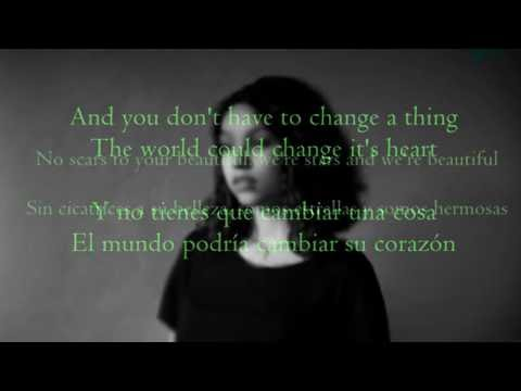 Scars To Your Beautiful - Allessia Cara|| Lyrics (Ingles& Sub.Español)