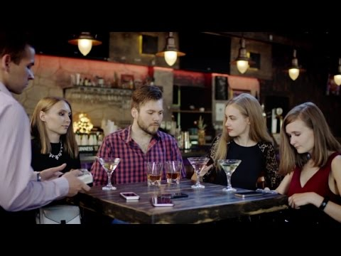Male Customer Paying With a Credit Card In a Pub | Stock Footage