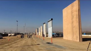 Trump Border Wall Samples Complete