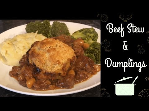Scottish Beef Stew And Dumplings Recipe :) Cook With Me!