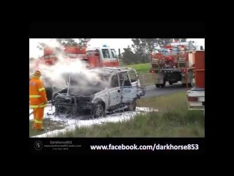 Vehicle on Fire @ Wirrimah NSW 06092015