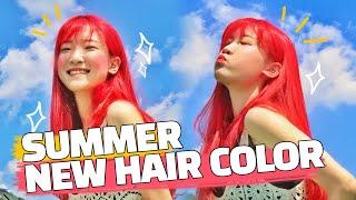 ❤레전드 컬러!! 빨간머리 셀프염색❤ 어헤즈 컬러트리트…