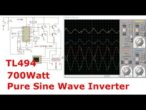 Powerful Sine Wave Inverter with TL494 Full Bridge Driver | 700Watt |  12-240V