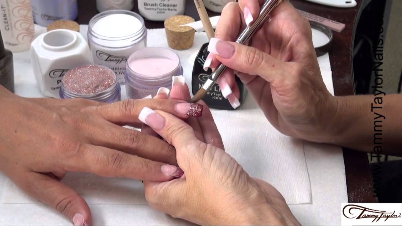 How To: Dazzle Rocks Acrylic BACK-FILL/Free-Edge Color Change - YouTube