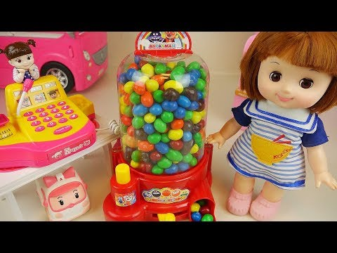 Baby doll candy dispenser and mart toys baby Doli play